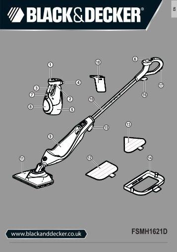 BlackandDecker Lavapavimenti A Vapore- Fsmh1621 - Type 1 - Instruction Manual (Inglese)