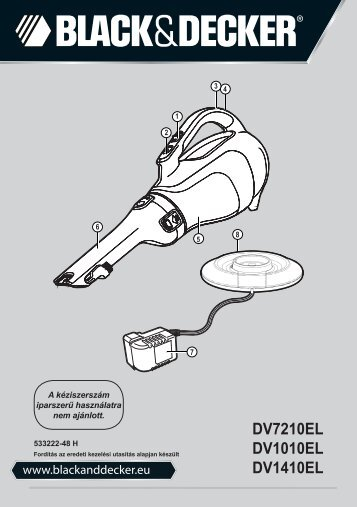 BlackandDecker Aspiratori Ricaricabili Portatili- Dv7210el - Type H1 - Instruction Manual (Ungheria)