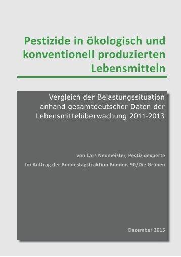 Pestizide in ökologisch und konventionell produzierten Lebensmitteln