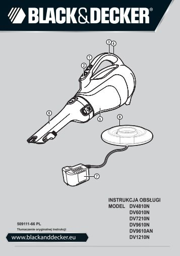 BlackandDecker Aspiratori Ricaricabili Portatili- Dv4810 - Type H1 - Instruction Manual (Polonia)