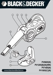BlackandDecker Aspiratori Ricaricabili Portatili- Pv1805 - Type H2 - Instruction Manual (Europeo)