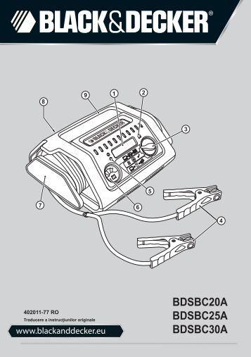 BlackandDecker Carica Batteria- Bdsbc30a - Type 1 - Instruction Manual (Romania)