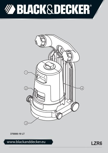 BlackandDecker Laser- Lzr6 - Type 1 - Instruction Manual (Lituania)