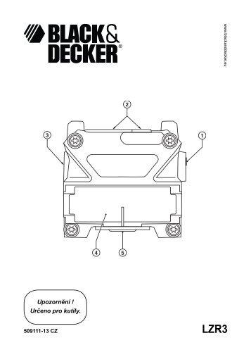 BlackandDecker Laser- Lzr310 - Type 1 - Instruction Manual (Czech)