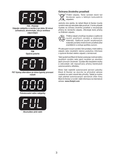 BlackandDecker Carica Batteria- Bdv1084 - Type 1 - Instruction Manual (Czech)