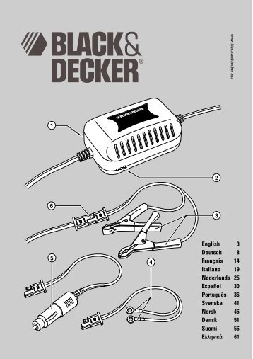 BlackandDecker Battery Booster- Bdv080 - Type 1 - 2 - Instruction Manual (Europeo)