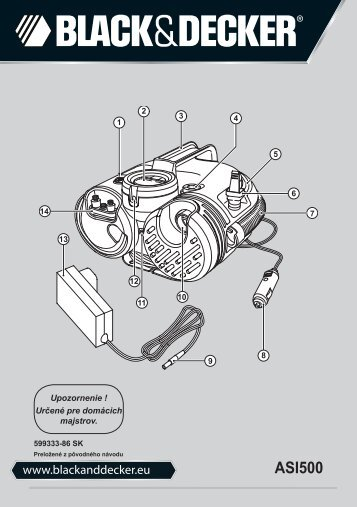 BlackandDecker Inflatore- Asi500 - Type H2 - Instruction Manual (Slovacco)