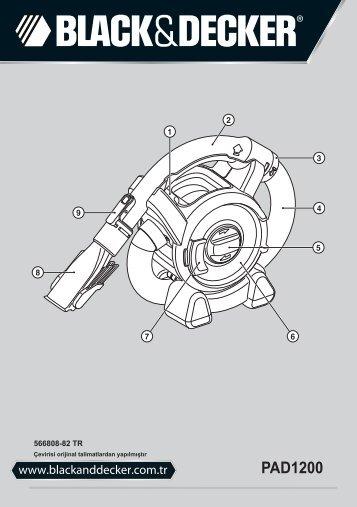 BlackandDecker Aspirapolv Per Auto- Pad1200 - Type 1 - Instruction Manual (Turco)