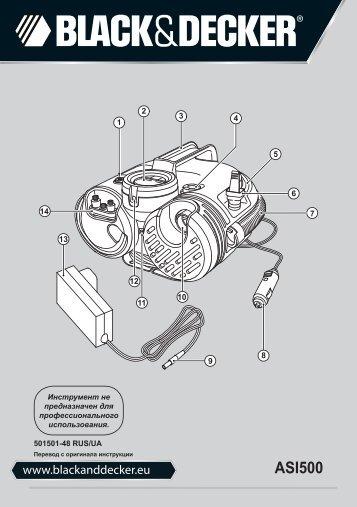 BlackandDecker Inflatore- Asi500 - Type H2 - Instruction Manual (Russia - Ucraina)