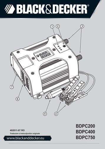 BlackandDecker Trasformatore- Bdpc750 - Type 1 - Instruction Manual (Romania)