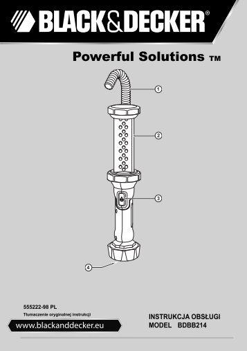 BlackandDecker Torcia Elettrica- Bdbb214 - Type 1 - Instruction Manual (Polonia)