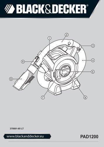 BlackandDecker Aspirapolv Per Auto- Pad1200 - Type 1 - Instruction Manual (Lituania)