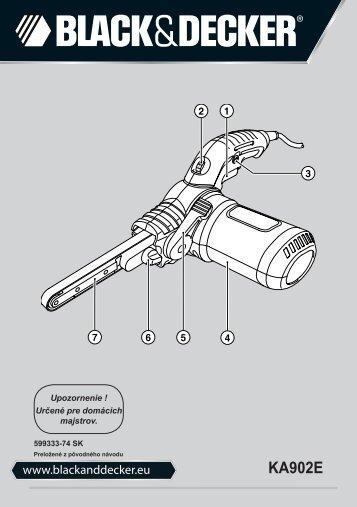 BlackandDecker Lima Elettrica- Ka902e - Type 1 - Instruction Manual (Slovacco)