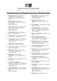 Publikationsliste des Skulpturenmuseum Glaskasten Marl