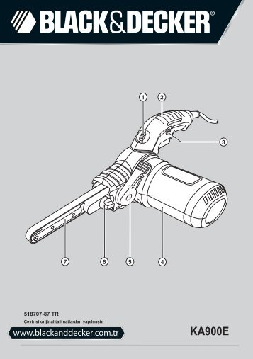BlackandDecker Lima Elettrica- Ka900e - Type 1 - Instruction Manual (Turco)