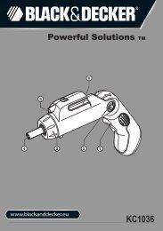 BlackandDecker Cacciavite Snza Cavo- Kc1036 - Type 1 - Instruction Manual (Europeo)