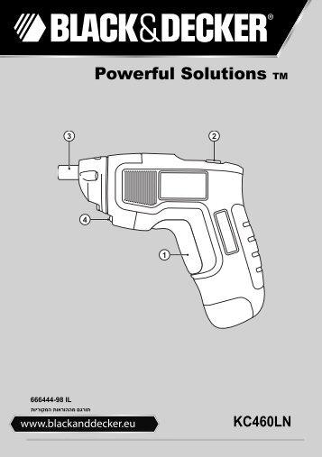 BlackandDecker Cacciavite- Kc460ln - Type H1 - Instruction Manual (Israele)