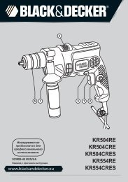 BlackandDecker Trapano Percussione- Kr504cre - Type 2 - Instruction Manual (Russia - Ucraina)