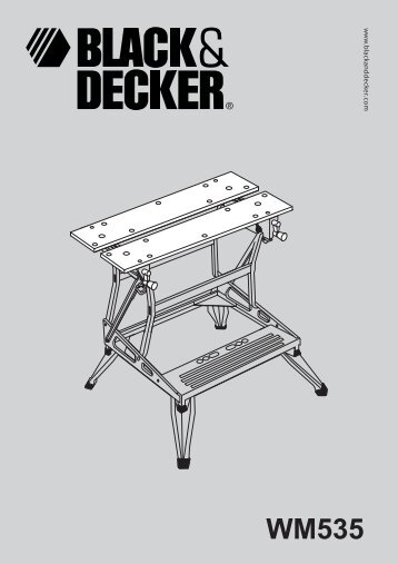 BlackandDecker Workmate- Wm535 - Type 10 - Instruction Manual (Europeo)