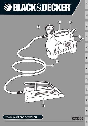 BlackandDecker Raschia Carta Parati- Kx3300 - Type 1-2 - Instruction Manual (Europeo)