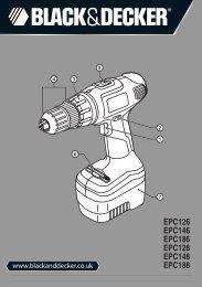BlackandDecker Trapano Senza Cavo- Epc188 - Type H1 - Instruction Manual (Inglese)