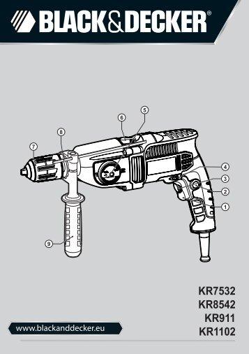 BlackandDecker Trapano- Kr7532 - Type 1 - Instruction Manual (Europeo Orientale)