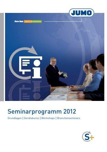 Seminarprogramm 2012 - Jumo GmbH & Co. KG