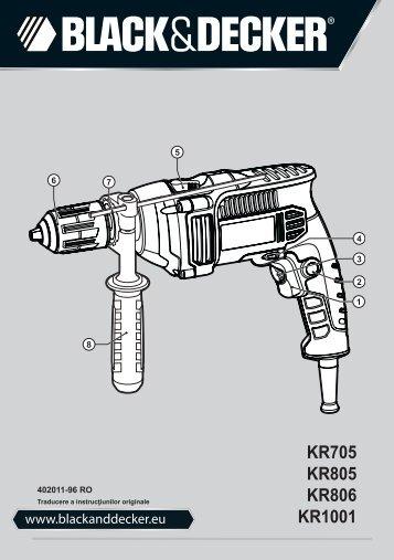 BlackandDecker Trapano- Kr806k - Type 1 - Instruction Manual (Romania)