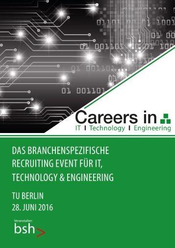 Vertriebskatalog Careers in IT 2016