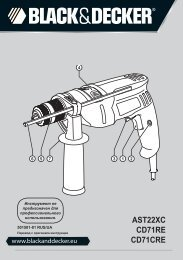 BlackandDecker Trapano- Ast22xc - Type 1 - Instruction Manual (Russia - Ucraina)