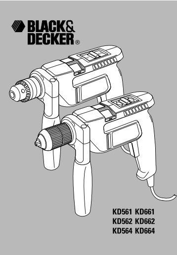 BlackandDecker Trapano Percussione- Kd562 - Type 1 - Instruction Manual