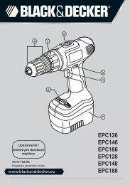BlackandDecker Trapano Senza Cavo- Epc146 - Type H1 - Instruction Manual (Slovacco)