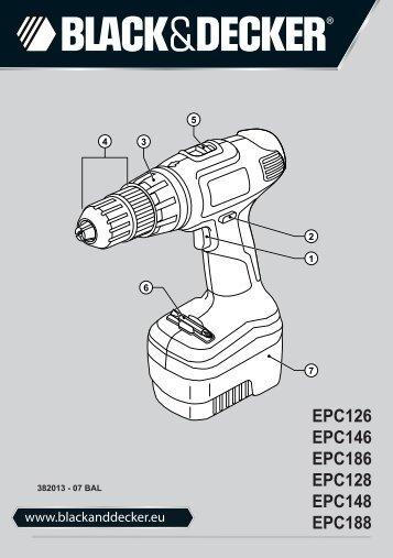 BlackandDecker Trapano Senza Cavo- Epc146 - Type H1 - Instruction Manual (Balcani)