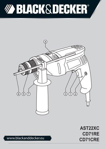 BlackandDecker Trapano- Ast22xc - Type 1 - Instruction Manual (Europeo Orientale)