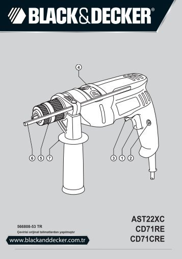 BlackandDecker Trapano- Ast22xc - Type 1 - Instruction Manual (Turco)