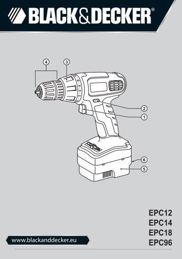 BlackandDecker Trapano Senza Cavo- Epc14 - Type H1 - Instruction Manual (Europeo Orientale)