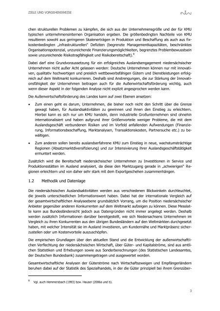 Ausweitung der außenwirtschaftlichen Beziehungen der - NIW