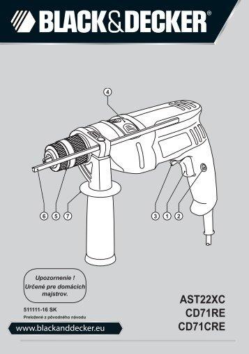 BlackandDecker Trapano- Ast22xc - Type 1 - Instruction Manual (Slovacco)