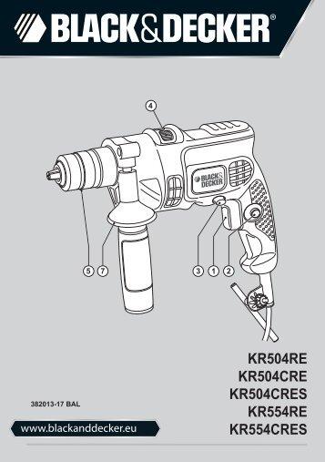 BlackandDecker Trapano Percussione- Kr504re - Type 2 - Instruction Manual (Balcani)
