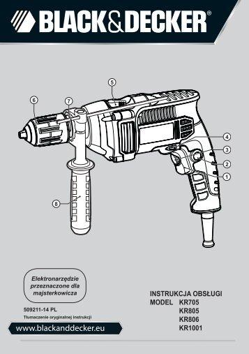 BlackandDecker Trapano- Kr805 - Type 1 - Instruction Manual (Polonia)
