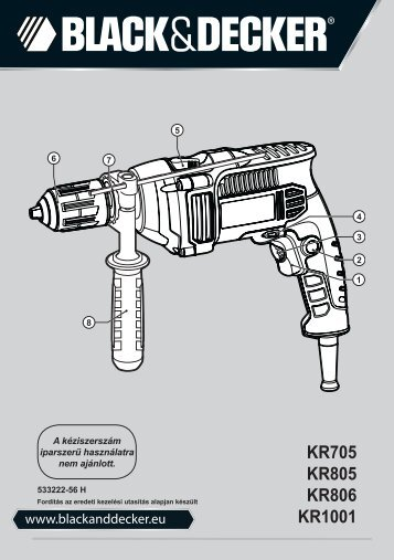 BlackandDecker Trapano Percussione- Kr1001 - Type 1 - Instruction Manual (Ungheria)
