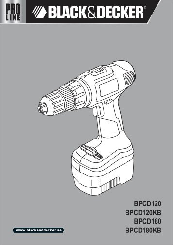 BlackandDecker Trapano Percussione- Bpcd180 - Type 1 - Instruction Manual (Inglese - Arabo)