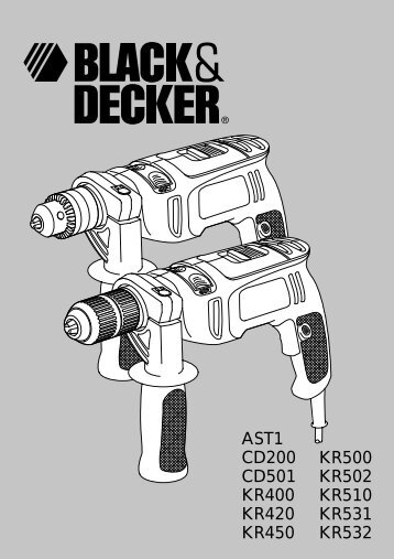 BlackandDecker Trapano Percussione- Cd200 - Type 1 - Instruction Manual (Inglese)