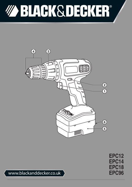 BlackandDecker Trapano Senza Cavo- Epc18 - Type H1 - Instruction Manual (Inglese)