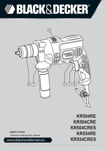 BlackandDecker Trapano Percussione- Kr504re - Type 2 - Instruction Manual (Romania)
