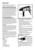 BlackandDecker Trapano- Kd351cre - Type 1 - Instruction Manual - Page 6