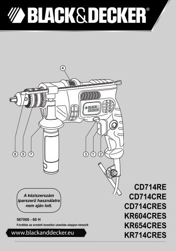 BlackandDecker Trapano Percussione- Kr654cres - Type 2 - Instruction Manual (Ungheria)