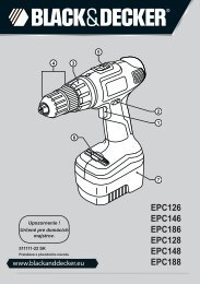 BlackandDecker Trapano Senza Cavo- Epc126 - Type H1 - Instruction Manual (Slovacco)
