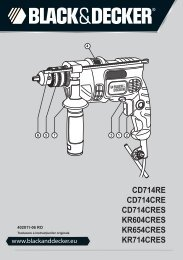 BlackandDecker Trapano Percussione- Cd714re - Type 2 - Instruction Manual (Asta e pistone)