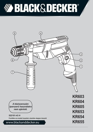BlackandDecker Trapano Percussione- Kr603 - Type 2 - Instruction Manual (Ungheria)